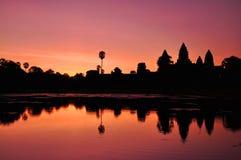De tempel van Angkorwat Stock Afbeeldingen