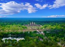 De tempel van Angkorwat, Kambodja Stock Foto