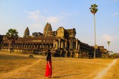 De tempel van Angkorwat in Siem oogst royalty-vrije stock afbeelding
