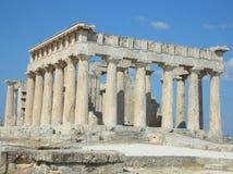 De tempel van Aphaia - Aegina - Griekenland stock fotografie