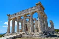 De Tempel van Aphaia in Aegina, Griekenland op 19 Juni, 2017 Royalty-vrije Stock Foto