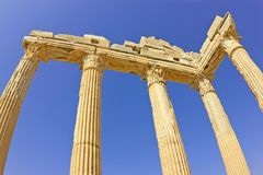 De tempel van Apollo Stock Fotografie