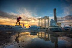 De Tempel van Apollo, Antalya royalty-vrije stock fotografie