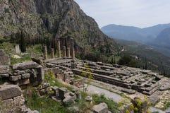 De tempel van Apollo, Delphi, Griekenland Royalty-vrije Stock Afbeeldingen