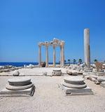 De tempel van Apollo, Kant, Turkije stock foto