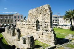 De tempel van Apollo in Siracusa Stock Foto