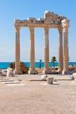De tempel van Apollon in Zij, Turkse Riviera Royalty-vrije Stock Fotografie