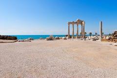 De tempel van Apollon in Zij, Turkse Riviera Stock Afbeeldingen