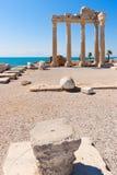 De tempel van Apollon in Zij, Turkse Riviera Royalty-vrije Stock Foto's