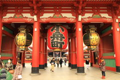 De Tempel van Asakusa Royalty-vrije Stock Foto