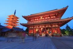 De Tempel van Asakusa, Japan royalty-vrije stock afbeeldingen