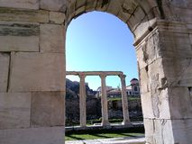 de tempel van Athene Stock Fotografie