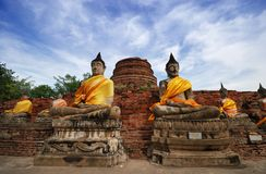 De Tempel van Ayudhaya Royalty-vrije Stock Afbeelding