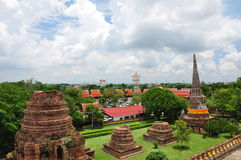 De Tempel van Ayutthaya Stock Foto's