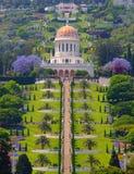 De tempel van Bahai in Haifa Stock Afbeeldingen