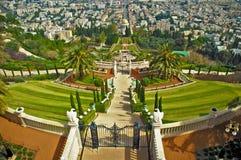 De tempel van Bahai, Haifa, Israël Stock Foto's
