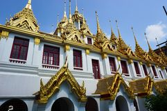 De tempel van BANGKOK, THAILAND, het Boeddhismegodsdienst van Bangkok - van Thailand royalty-vrije stock foto's