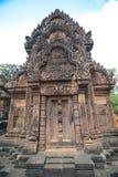de Tempel van Banteay Srei Stock Foto