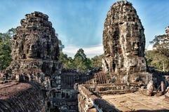 De Tempel van Bayon Stock Fotografie
