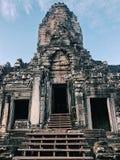 De Tempel van Bayon, Angkor Thom stock fotografie