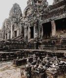 De Tempel van Bayon, Angkor Thom, Siem oogst, Kambodja stock foto's