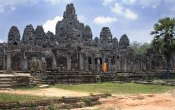 De Tempel van Bayon - Angkor Wat - Kambodja Stock Afbeeldingen
