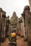 De Tempel van Bayon, Kambodja Stock Fotografie