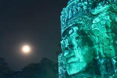 De tempel van Bayon kambodja Siem oogst Provincie Siem oogst stad Angkor Thom Khmer Nieuwjaar 2015 stock afbeelding