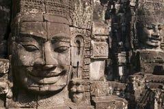 De Tempel van Bayon in Siem oogst Stock Afbeelding