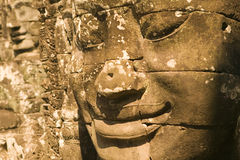 De Tempel van Bayon in Siem oogst stock afbeeldingen