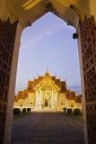De tempel van Benchamabophit van Bangkok Thailand Royalty-vrije Stock Afbeelding
