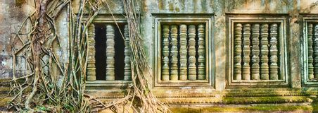 De tempel van Beng Mealea of van Stopmealea Siem oogst Angkor kambodja stock fotografie