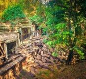 De tempel van Beng Mealea of van Stopmealea Siem oogst Angkor kambodja royalty-vrije stock foto