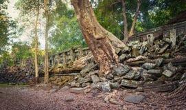 De tempel van Beng Mealea of van Stopmealea Siem oogst Angkor kambodja Panorama royalty-vrije stock fotografie