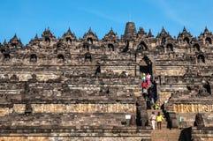 De Tempel van Borobudur Stock Afbeeldingen