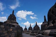 De Tempel van Borobudur Stock Fotografie