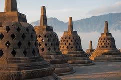 De Tempel van Borobudur bij zonsopgang royalty-vrije stock foto
