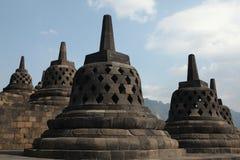 De Tempel van Borobudur, Centraal Java, Indonesië Stock Foto's