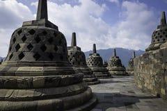 Borobudur Stupas Royalty-vrije Stock Foto