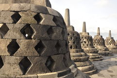 De tempel van Borobudur in Indonesië Royalty-vrije Stock Foto's