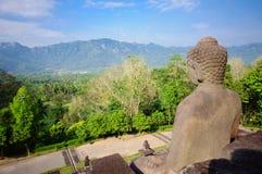 De tempel van Borobudur, Java, Indonesië Stock Afbeelding