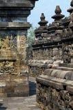 De Tempel van Borobudur, Yogyakarta, Java, Indonesië Stock Foto's