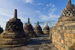 De Tempel van Borobudur. Yogyakarta, Java, Indonesië. Stock Foto's