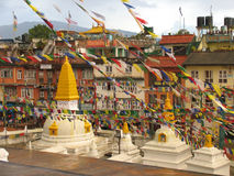 De tempel van Boudhanath Royalty-vrije Stock Foto