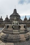 De tempel van Buddist van Borobudur Stock Afbeelding