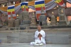 De Tempel van Budha, Bodhgaya stock afbeelding