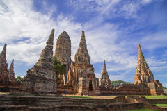 De tempel van Chaiwattanaram Stock Afbeeldingen