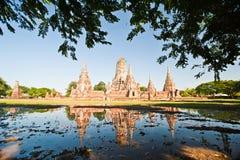 De Tempel van Chaiwattanaram van Wat, Ayutthaya Royalty-vrije Stock Foto