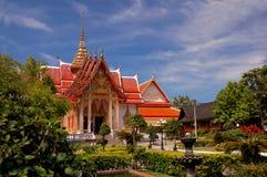 De tempel van Chalong van Wat. Het eiland van Phuket. Thailand. Royalty-vrije Stock Foto
