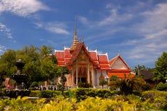 De tempel van Chalong van Wat. Het eiland van Phuket. Thailand. Royalty-vrije Stock Fotografie